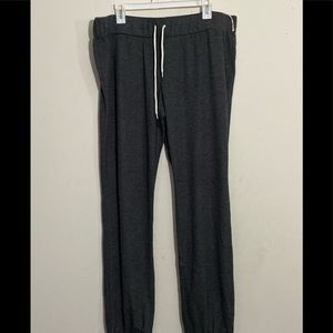 NWT Plus Size Heather Grey Jogger Style Sweatpants